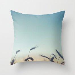 Summer of Straw Throw Pillow
