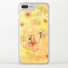 Summer Time Flower Fairy Clear iPhone Case