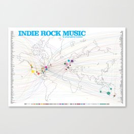 Indie Rock Music Poster Canvas Print
