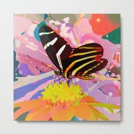 Butterfly & Flower Fan (BFF) Metal Print