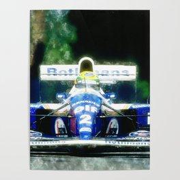 Ayrton Senna, Willams Poster