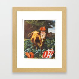 Kuh, Koller, Collage Framed Art Print