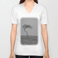 alone V-neck T-shirts featuring alone... by Chernobylbob