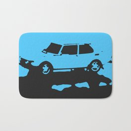 Saab 99 EMS, Light Blue on Black Bath Mat
