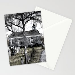 Sleepy Hollow Church Art Stationery Cards