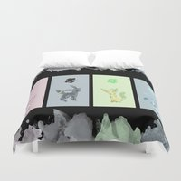 eevee Duvet Covers featuring Evolutions, Part II by David Flamm