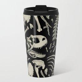 Dino Bones Black Travel Mug