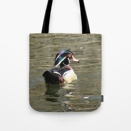 Wood Duck at Green Valley In Tote Bag