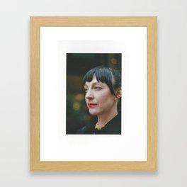 Red Lipstick Framed Art Print