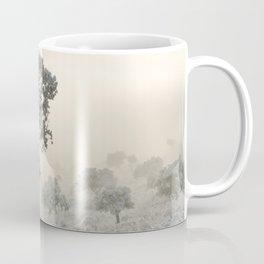 Magic morning after the snow. Foggy sunrise Coffee Mug