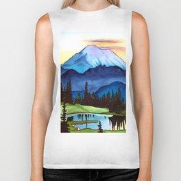 Mount Rainier Lake Biker Tank