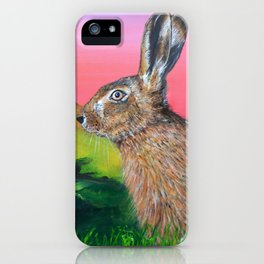Glastonbury Hare iPhone Case