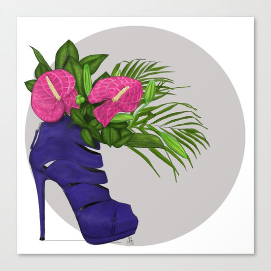 Thank you for flowers Canvas Print