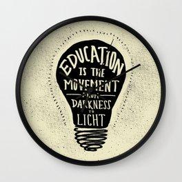 Education: Darkness to Light Wall Clock