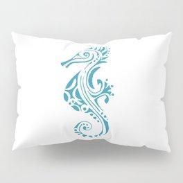 Seahorse tatoo blue Pillow Sham