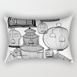 Cages Open Cages Closed Rectangular Pillow