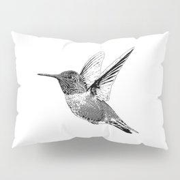 Hummingbird-Flying-Bird-Animal,Nectar-Flower Pillow Sham