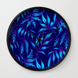 Brooklyn Forest - Blue Wall Clock