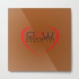 AAW101 Orange Metal Print