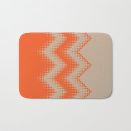 pattern growing squares chevron orange tan Bath Mat