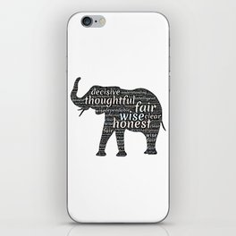 Elephant with words iPhone Skin
