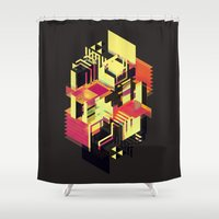 literary Shower Curtains featuring Utopia in Six or Seven Colors by John Magnet Bell