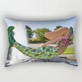 A mermaid in a norfolk botanical gardens 2 Rectangular Pillow