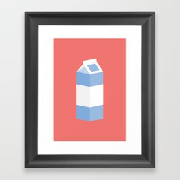 #90 Milk Carton Framed Art Print
