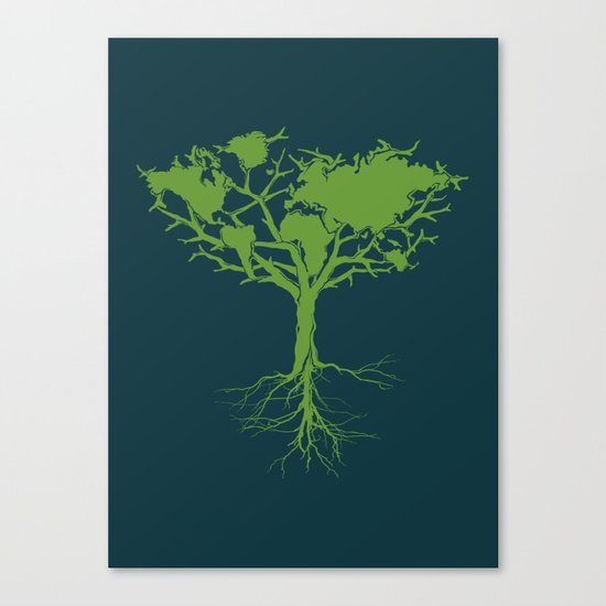 Earth Tree Canvas Print