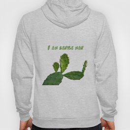 Cactus man with flower and text above Hoody