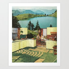 Comes in Dawn Yellow and Meridian Blue Art Print