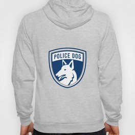 Police Dog Shield Mascot Hoody
