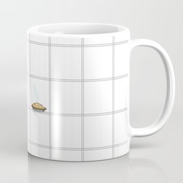Pie Cooling on the Windowpane Pattern Coffee Mug