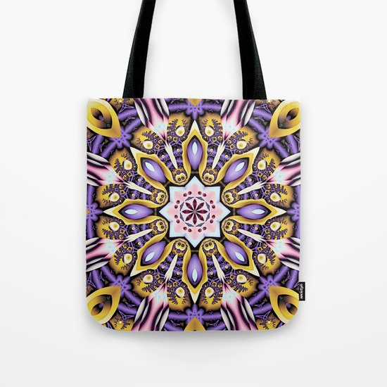 Kaleidoscope in purple, pink, gold and blue Tote Bag