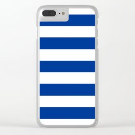 Air Force blue (USAF) -  solid color - white stripes pattern Clear iPhone Case
