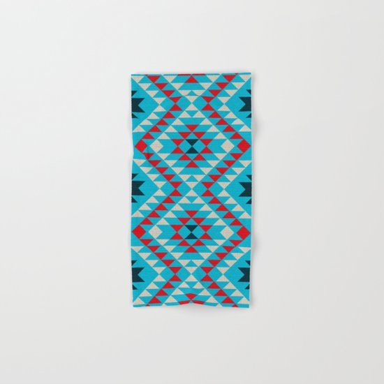 Geometric tribal pattern Hand & Bath Towel