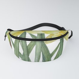 Watercolor Daffodils Botanical Illustration Fanny Pack
