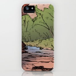 Grandstaff Canyon Sketch iPhone Case