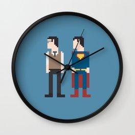 Man of Steel 8-Bit Wall Clock