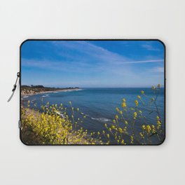 Blooming Flowers on the Pacific Coast Laptop Sleeve