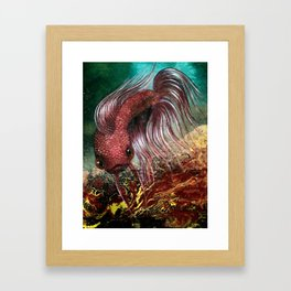Bird the Betta Fish Framed Art Print
