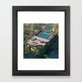 Ancient Gameboy Framed Art Print