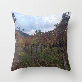Vineyard in Autumn Throw Pillow