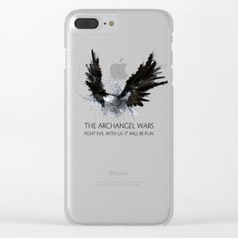 The Archangel Wars - Fight Evil Clear iPhone Case
