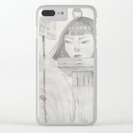 Display of Heads Clear iPhone Case