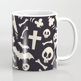 Halloween Symbols Pattern Contrast Coffee Mug