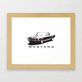 Mustang Design Framed Art Print