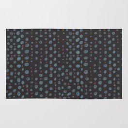 Dots and Stars (Black) Rug