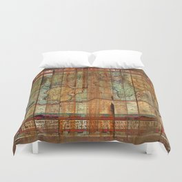 Antique World Duvet Cover