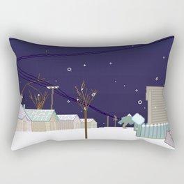 placenames (snow) Rectangular Pillow